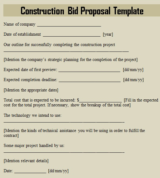 construction proposal template 11