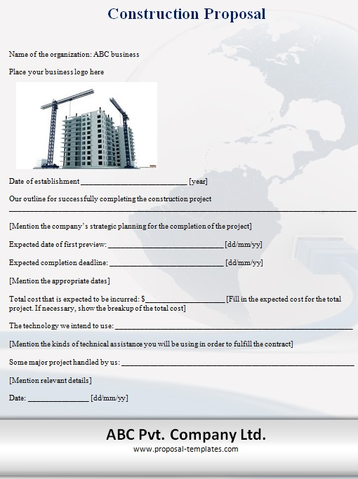 construction proposal template 2