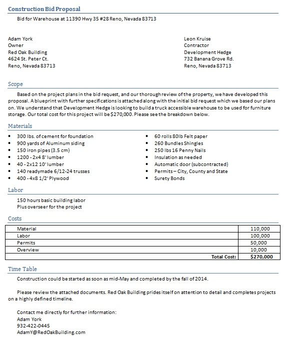 construction proposal template 9