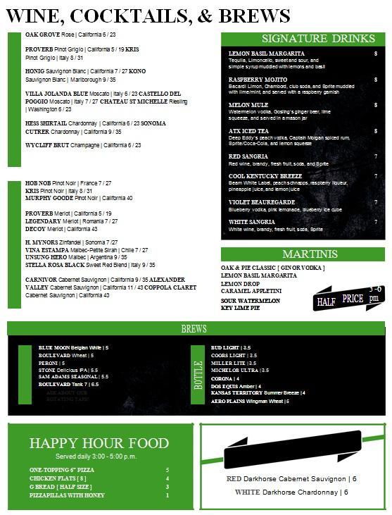 drink menu template 10