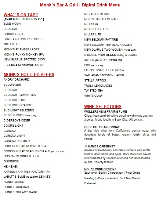 drink menu template 11