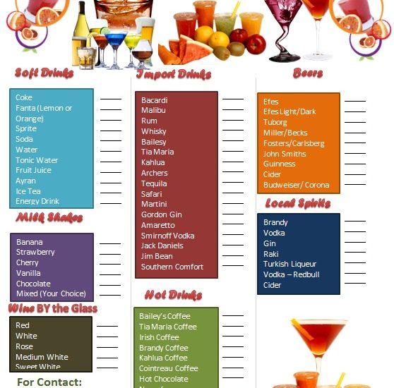 drink menu template 27