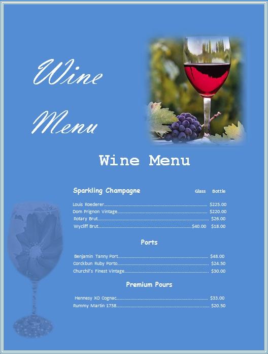 drink menu template 28