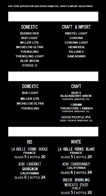 drink menu template 4