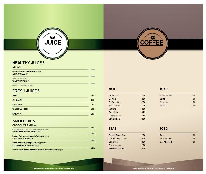 drink menu template 5