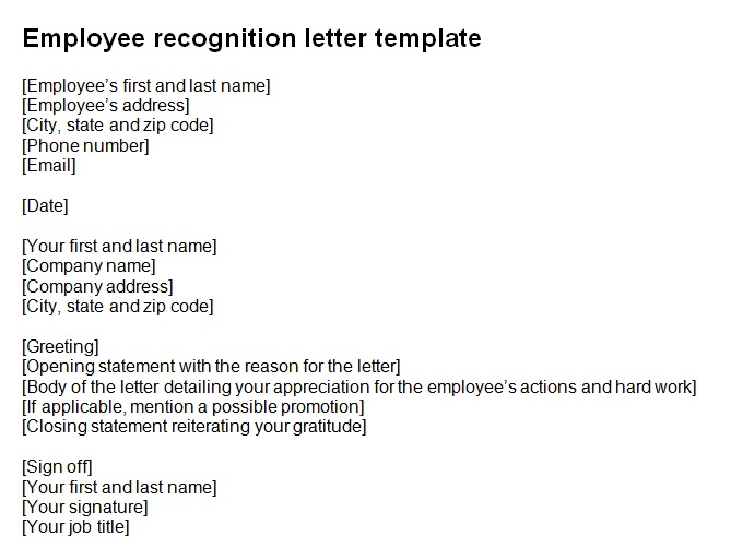 employee recognition letter template 2