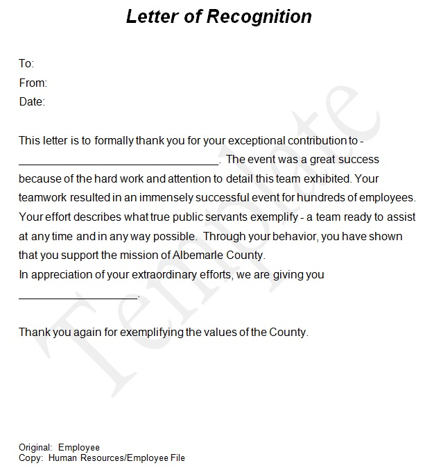 20+ Free Employee Recognition Letter Templates [Word]