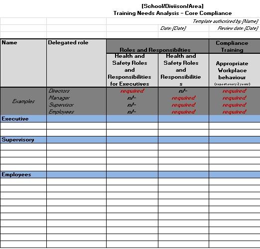 needs assessment template 11
