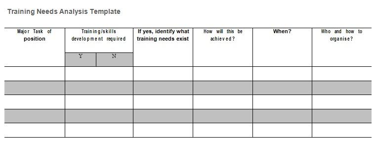 needs assessment template 19
