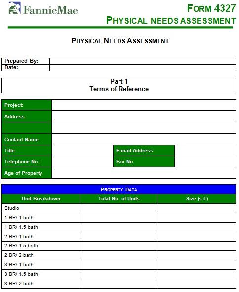 needs assessment template 26
