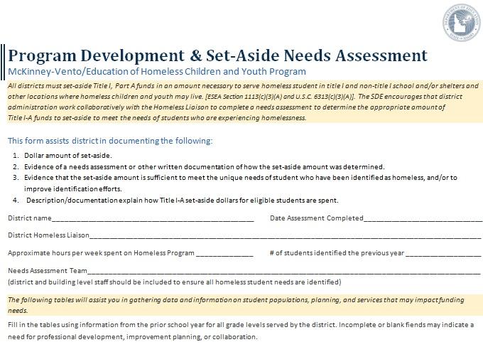 needs assessment template 27