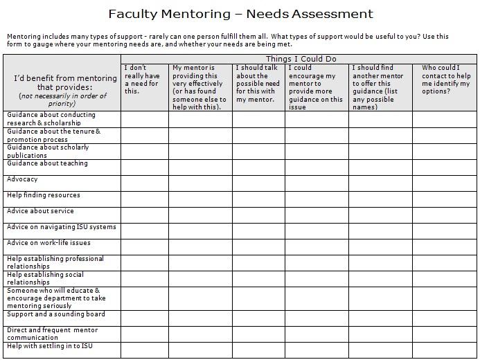 needs assessment template 30