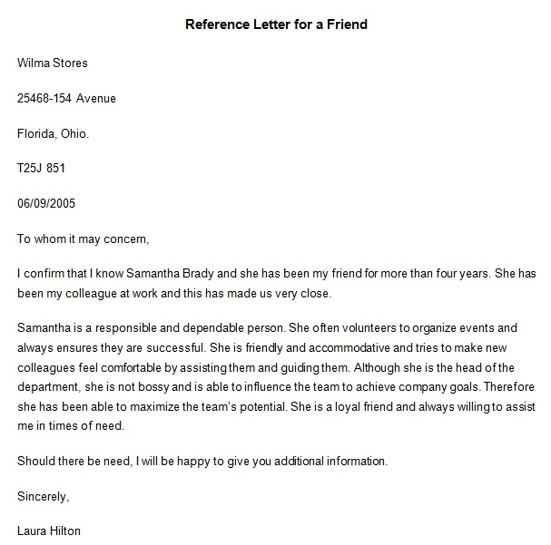 personal reference letter 15