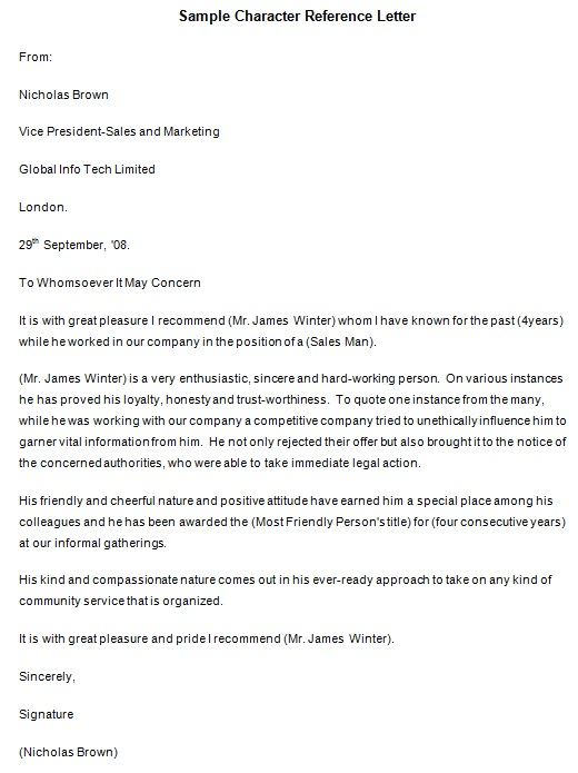 personal reference letter 26
