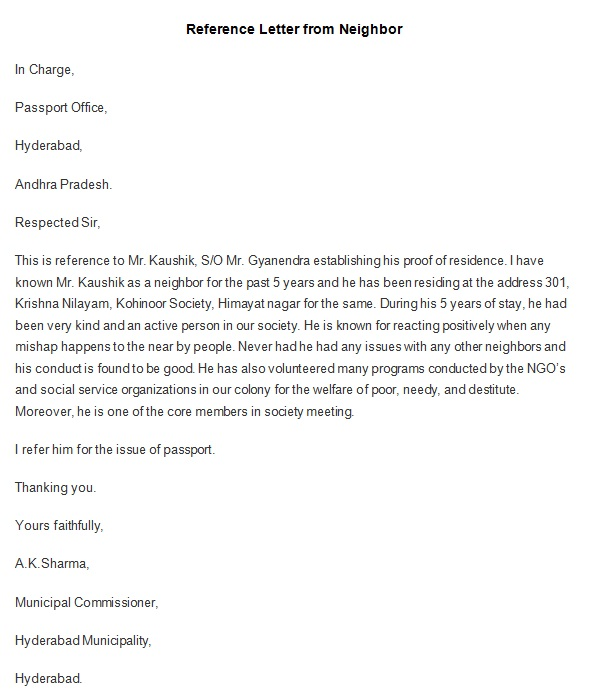 personal reference letter 29