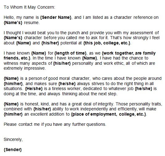 personal reference letter 3