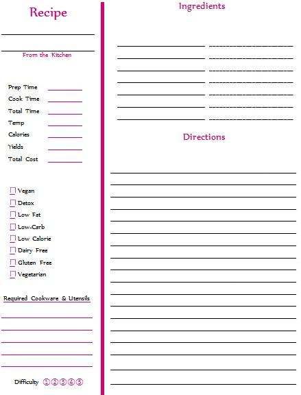 recipe book template 10
