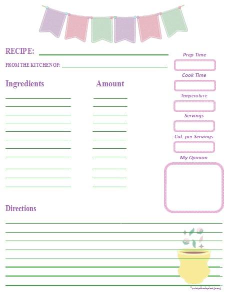 recipe book template 14