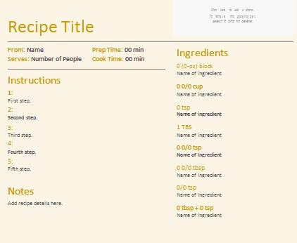 recipe book template 15