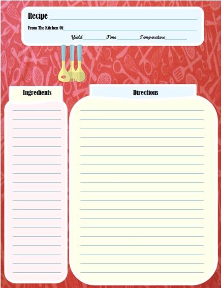 recipe book template 2