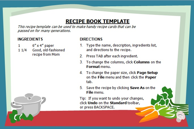 29+ Free Recipe Book Templates [Excel+Word]