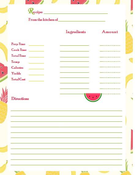 recipe book template 4