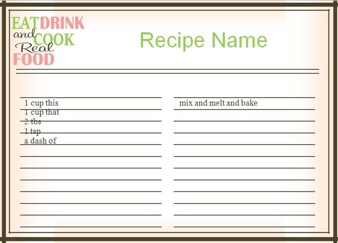 recipe book template 5