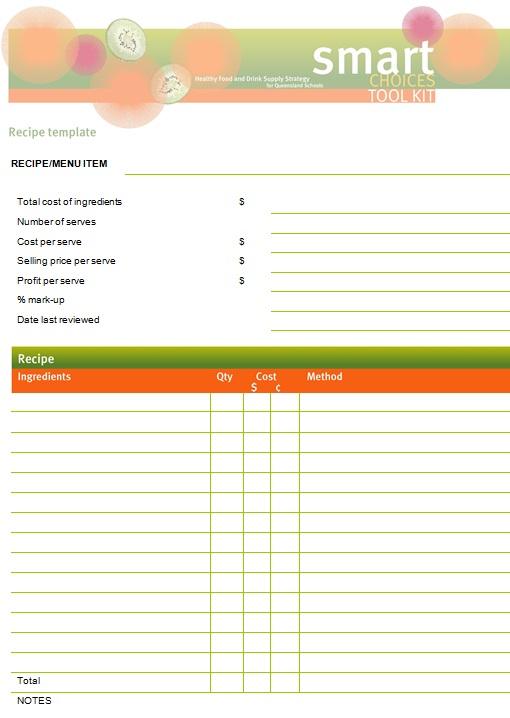 recipe book template 8