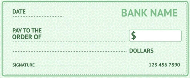 blank check template 10
