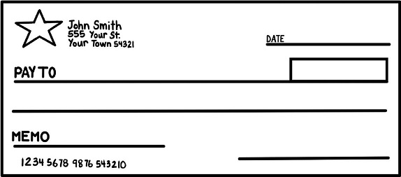 blank check template 15