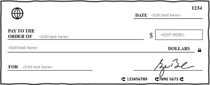 blank check template 8