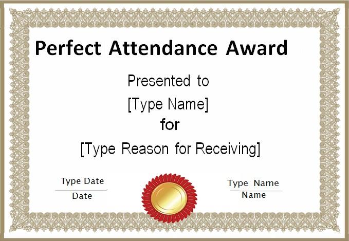 certificates of attendance template 1