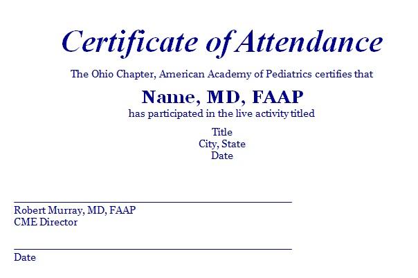 certificates of attendance template 10