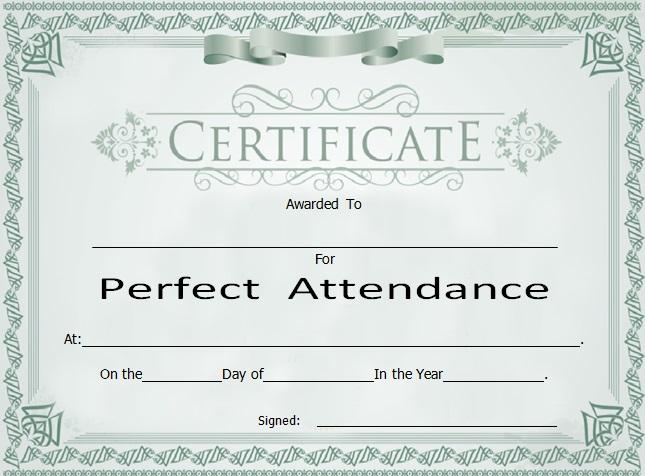 certificates of attendance template 14