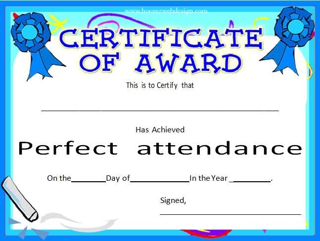 certificates of attendance template 18