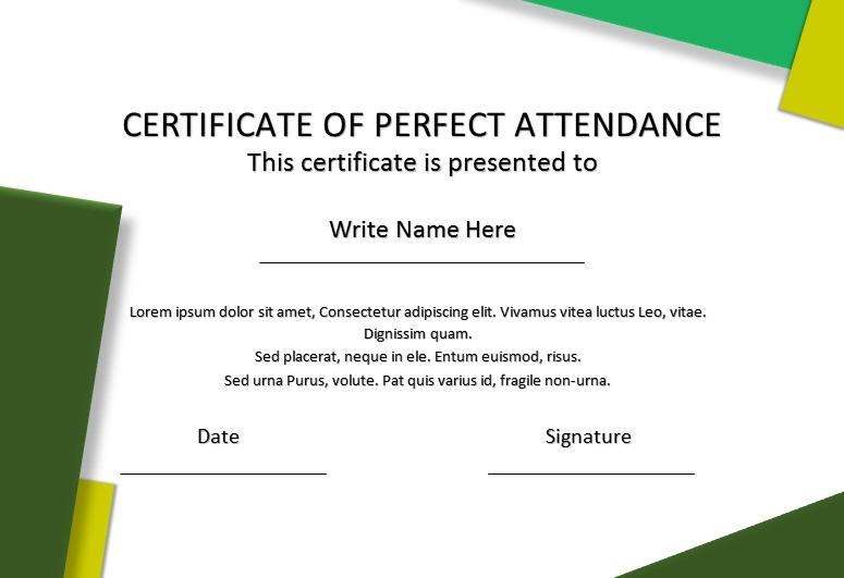 certificates of attendance template 20