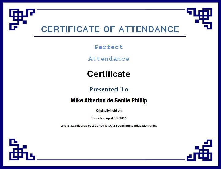 certificates of attendance template 21