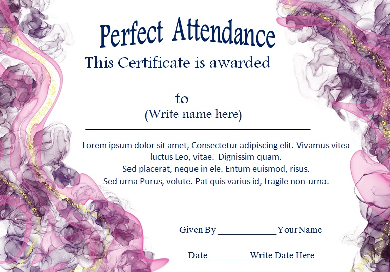 certificates of attendance template 24