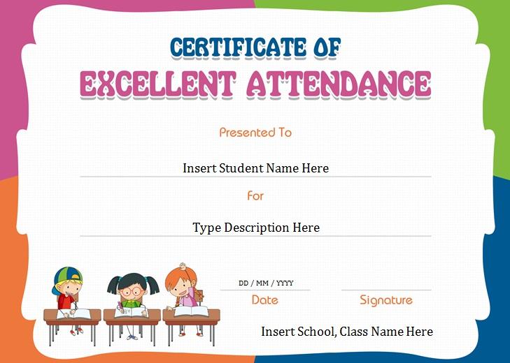 certificates of attendance template 25