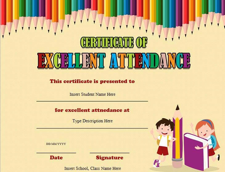 certificates of attendance template 26