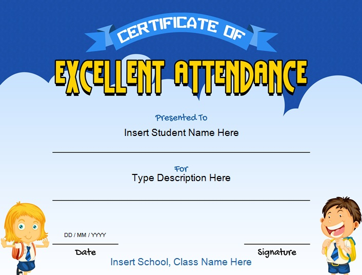 certificates of attendance template 27