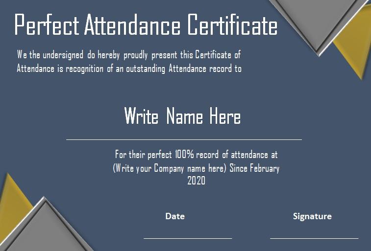 certificates of attendance template 28