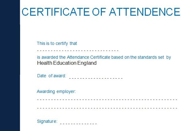 certificates of attendance template 3