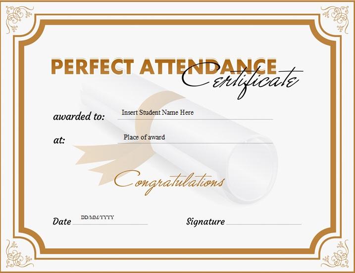 certificates of attendance template 31