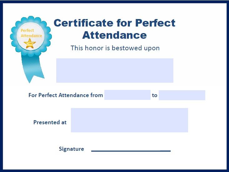 certificates of attendance template 33
