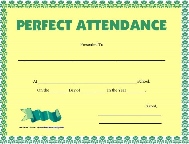 certificates of attendance template 34