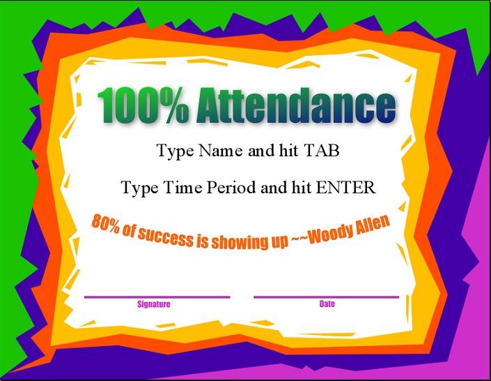 certificates of attendance template 35
