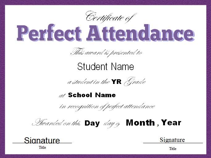 certificates of attendance template 6