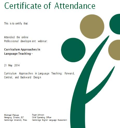 certificates of attendance template 7