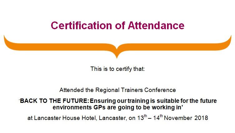 certificates of attendance template 8
